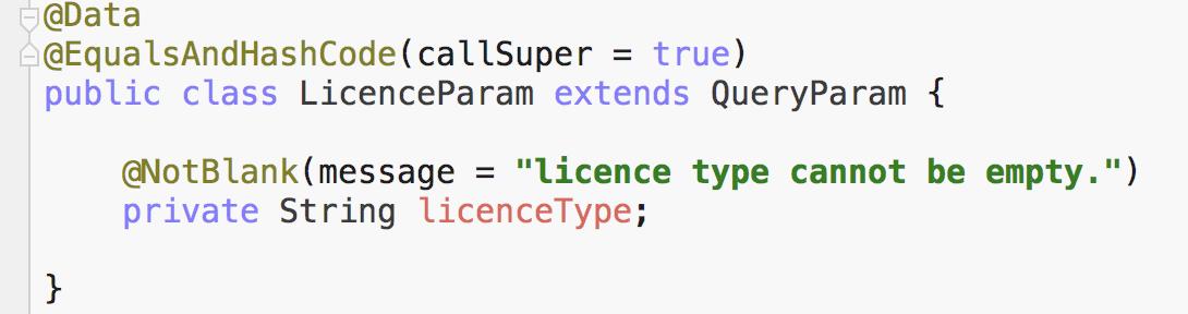 LicenceParam