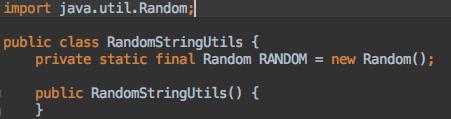 RandomStringUtils 类的定义