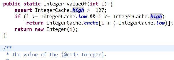 Integer缓存源码