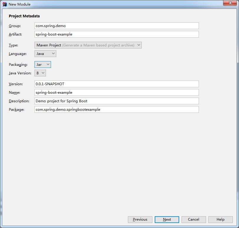 IDEA新建SpringBoot项目-填写项目/包名